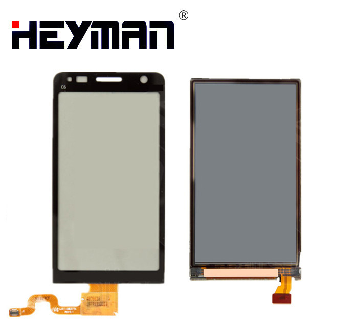 LCD with Touchscreen for Nokia C6-01 LCD Display screen Digitizer Glass Panel Front Glass Lens Sensor Replacement parts