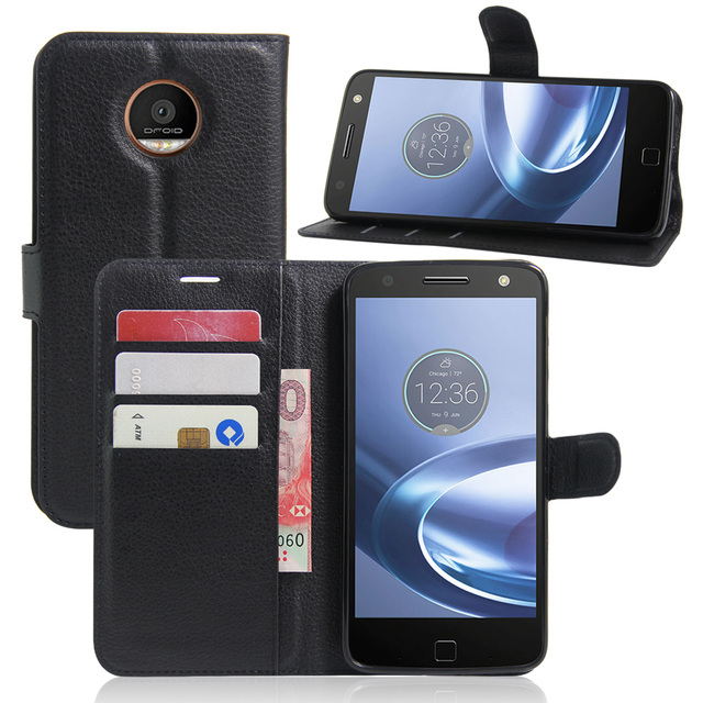 online store 04e4c 789c7 US $3.5 20% OFF|CYBORIS for Motorola Moto Z Leather Phone Case for Motorola  Moto Z Flip Cover Stand Wallet Bag Card Holder-in Wallet Cases from ...