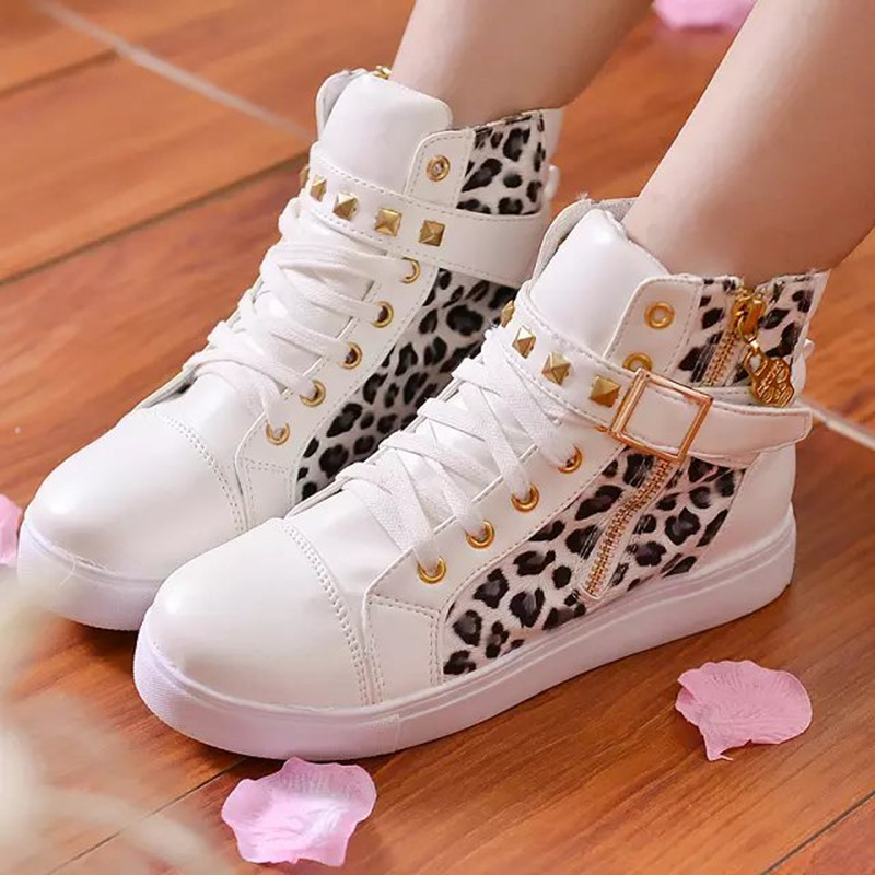 79ff6c7e48c0 Drop shipping New 2014 women sneakers for brand wedge female running shoes  Leisure Natural Rubber Leopard eu 35 40-in Fitness   Cross-training Shoes  from ...