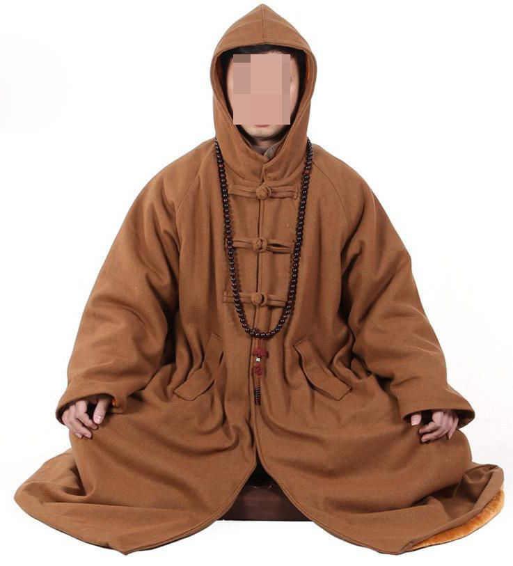Шерстяное пальто Унисекс Теплый Зимний плащ для медитации буддийские abbotmonks zen robe shaolin костюмы монашки форма для боевых искусств накидка camel