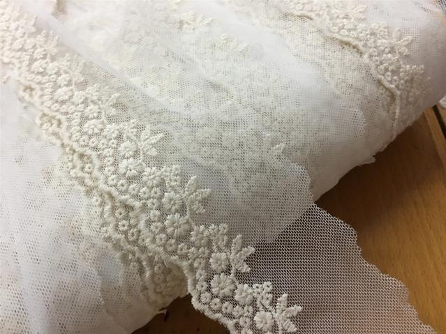 """Mint//Turquoise Broderie Anglaise """"Chicken"""" Embroidery Fabric By The Metre"""