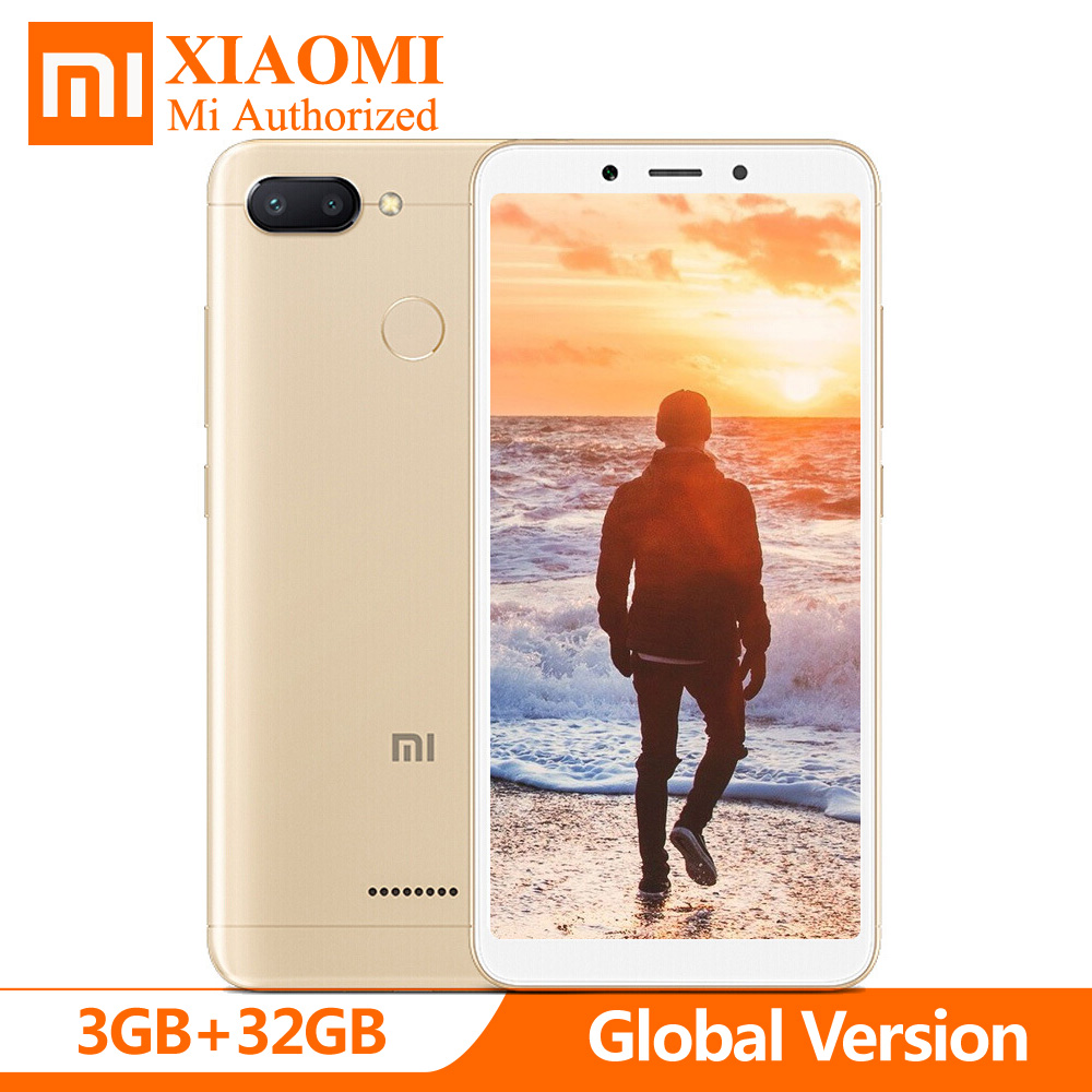 Cellphones & Telecommunications Global Version Xiaomi Redmi 6 Mtk Helio P22 Octa Core 3gb 32gb 5.45 18:9 Full Screen 12mp+5mp Dual Camera Smartphone Cheapest Price From Our Site