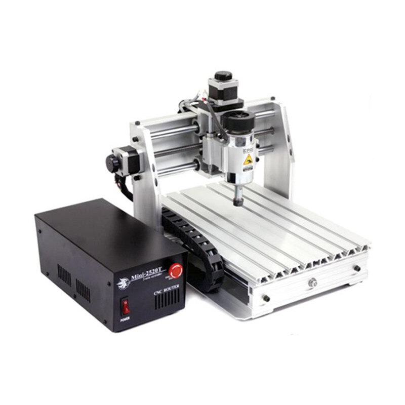 Russia Tax-free Desktop 3 Axis Mini <font><b>Cnc</b></font> Machine 2520T with <font><b>200W</b></font> <font><b>Spindle</b></font> for Wood Pcb Leather Carving image