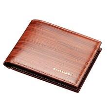 Baellerry marca de lujo de Los Hombres cortos de cuero hombre monedero de la cartera con el titular de la tarjeta bolsa de dinero 3 colores