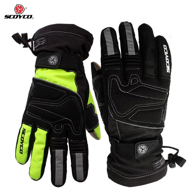 Motorcycle winter warm gloves Brand Scoyco MC30 moto touch screen gloves Waterproof windproof sports gloves Motocross