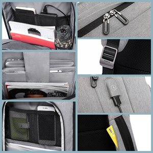 "Image 5 - KAKA 캐주얼 남성 배낭 USB 충전 대용량 여행 가방 15.6 ""노트북 백팩 schoolbag for teens mochila women back pack"