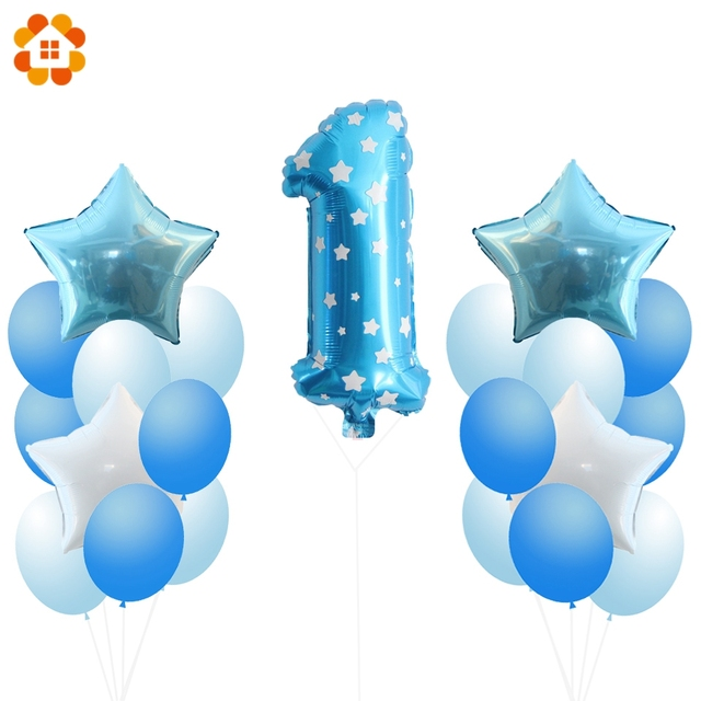 1Set Balloons 1st 2nd Birthday Party Favors Kids Toys DIY Wedding Decoration Baby Shower Supplies