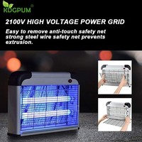 Insect Killer 20W Electric Shock Bug Zapper Mosquito Killer Lamp Fly Moth Wasp Pests Killer Anti-fly Trap Lamp For Home 2