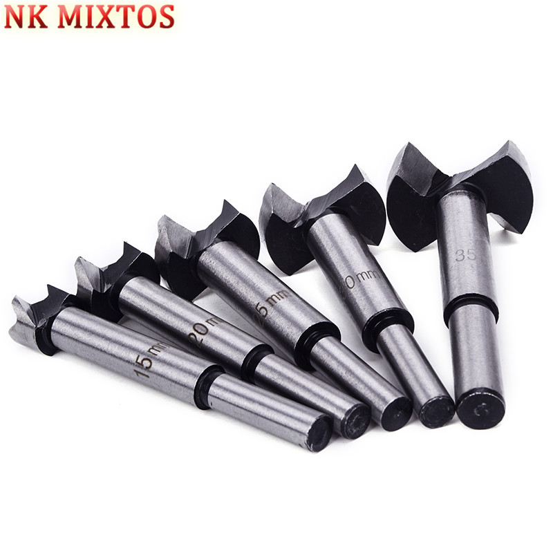 5Pcs/Set Drill Bit Set 15/20/25/30/35mm Wood Drills Wood Boring Hole Saw Cutter Tool Power Tools With Round Shank 35mm drill taladro brocas tungsten steel hole saw step drill bit set furadeira power tools