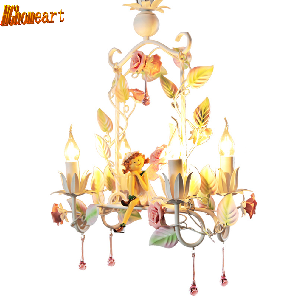 Creative restaurant chandelier korean princess lights garden style creative restaurant chandelier korean princess lights garden style wrought iron chandeliers flowers led ceiling lights in pendant lights from lights arubaitofo Choice Image