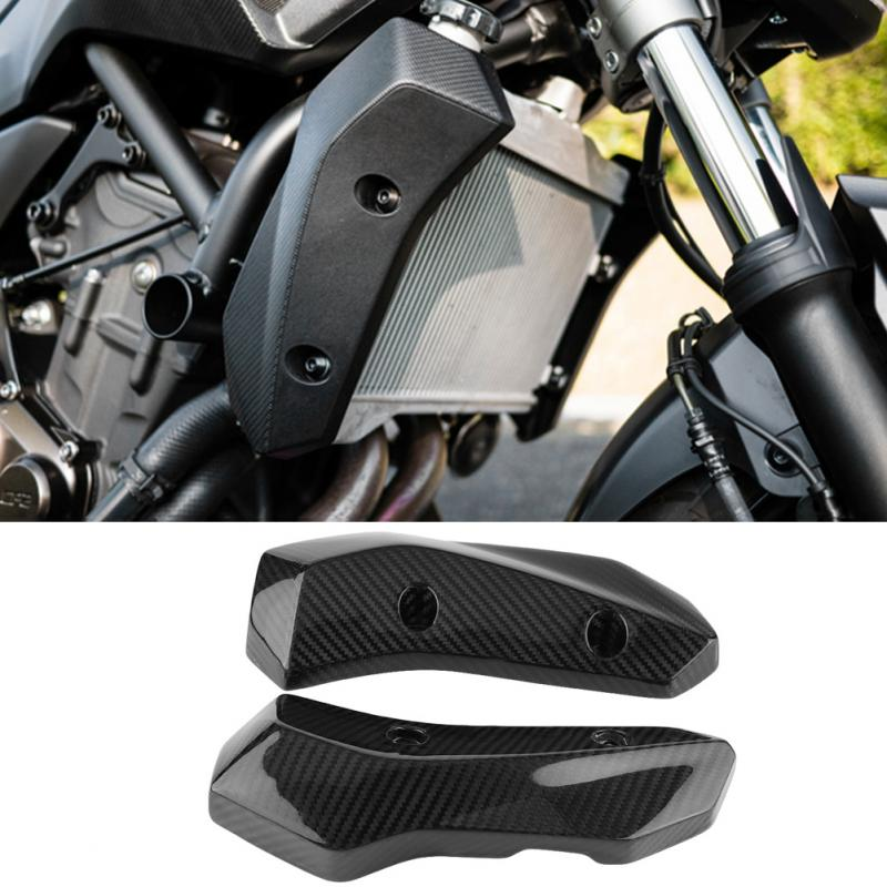 1Pair Motorcycle Carbon Fiber Radiator Grille Side Guard Cover for Yamaha MT-07 FZ-07 2014 2015 2016 2017 Motorcycle Styling image