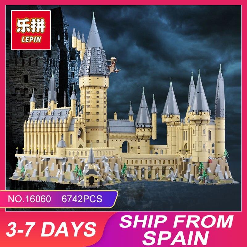 Lepin 16060 Hogwarts Castello Scuola di Magia Compatibile Con Il 71043 Giocattoli Educativi Di Natale Di Compleanno di Costruzione di Blocchi di Mattoni