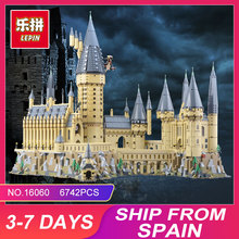 Educativos 16060 Hogwarts Castillo de la Escuela de Magia Compatible con el 71043 DE EDUCACIÓN juguetes de Navidad de cumpleaños de bloques de construcción ladrillos