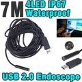 2014 Hot Sale 7M HD 720P Mini USB Endoscope 10mm Lens 4 LEDs IP67 Waterproof Video Inspection Camera Borescope Flexible Tube