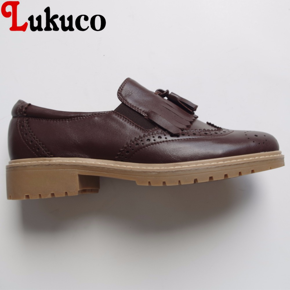Lukuco sweet style carved and tassels decoration women casual pumps microfiber made low heel shoes with pigskin inside lukuco pure color women mid calf boots microfiber made buckle design low hoof heel zip shoes with short plush inside
