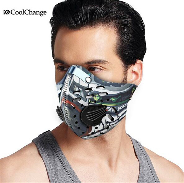 CoolChange Breathable Windproof Bicycle Cycling Half Face