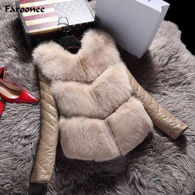 d31aee849e4 US $27.42 36% OFF|Women Faux Fox Fur Vest Jackets Fashion Autumn Winter  Coat Warm Female Elegant Vest High Grade Slim Jacket Outerwear Black  Gray-in ...