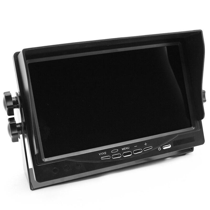 Iron Bracket 2 RCA Video Input DC12~24V HD 800X480 Digital Screen 7 Inch TFT LCD Truck Bus Parking Monitor Fit Camper Trailer