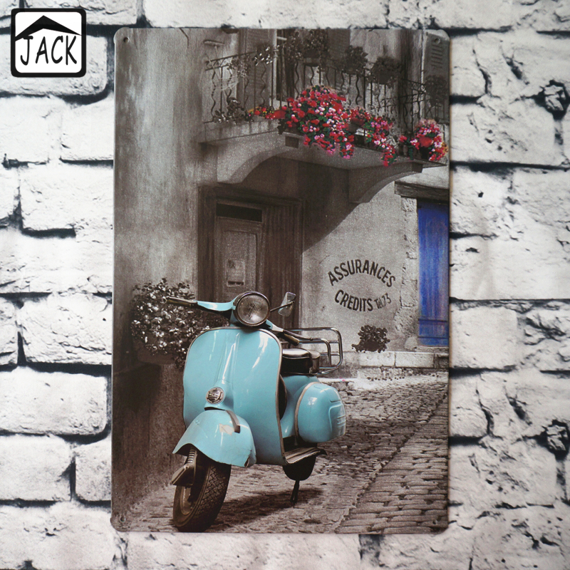 Online buy wholesale vespa scooters from china vespa for Vespa decoration
