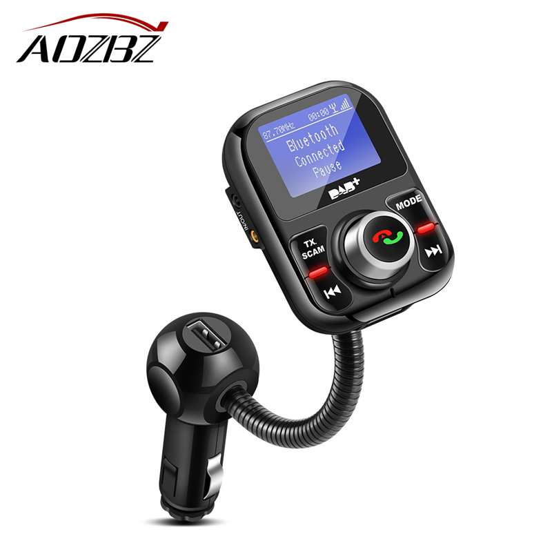 Car FM Transmitter Bluetooth DAB/DAB+ Receiver with Antenna 3.1A  Dual USB Car Charger Support TF Card and U-disk AUX FM-трансмиттер