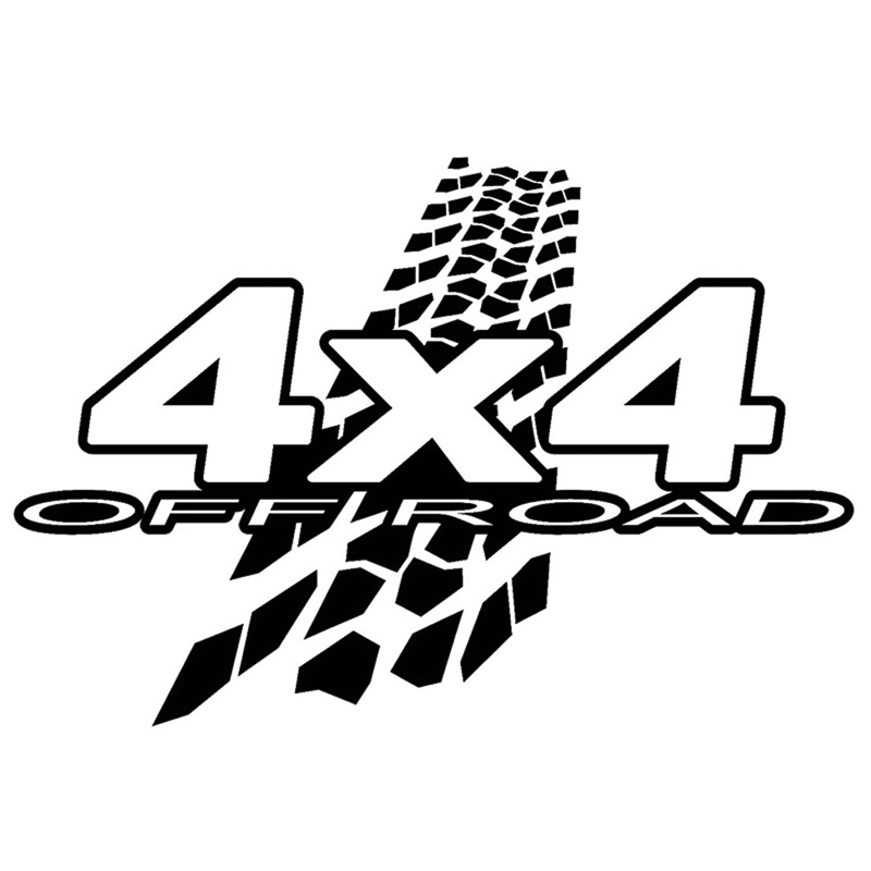 20cm*13.6cm NEW <font><b>4X4</b></font> <font><b>OFF</b></font>-<font><b>ROAD</b></font> Mud Funny Vinyl Decals Car <font><b>Sticker</b></font> Car-styling Black/White image