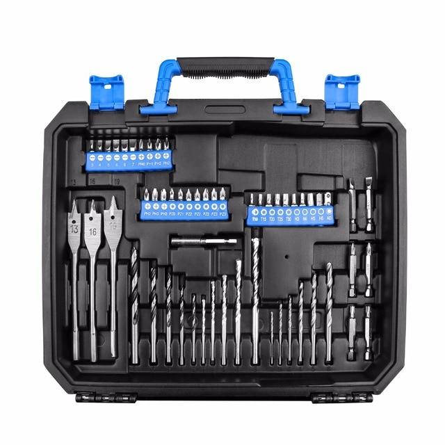 DEKO BMC Plastic Tool Case for 20V Cordless Drill GCD20DU3 with 85 Drill Bits Diver Bits Holder (not include GCD20DU3/battery) 3