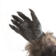 1 Pair Halloween Props Carnival Party Latex Gloves Stuffed Animal Wolf Dewclaws Terrorist Decoration