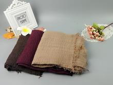 J4 20pcs 1lot   plain crinkle viscose hijab shawl scarf 180*90cm can choose colors