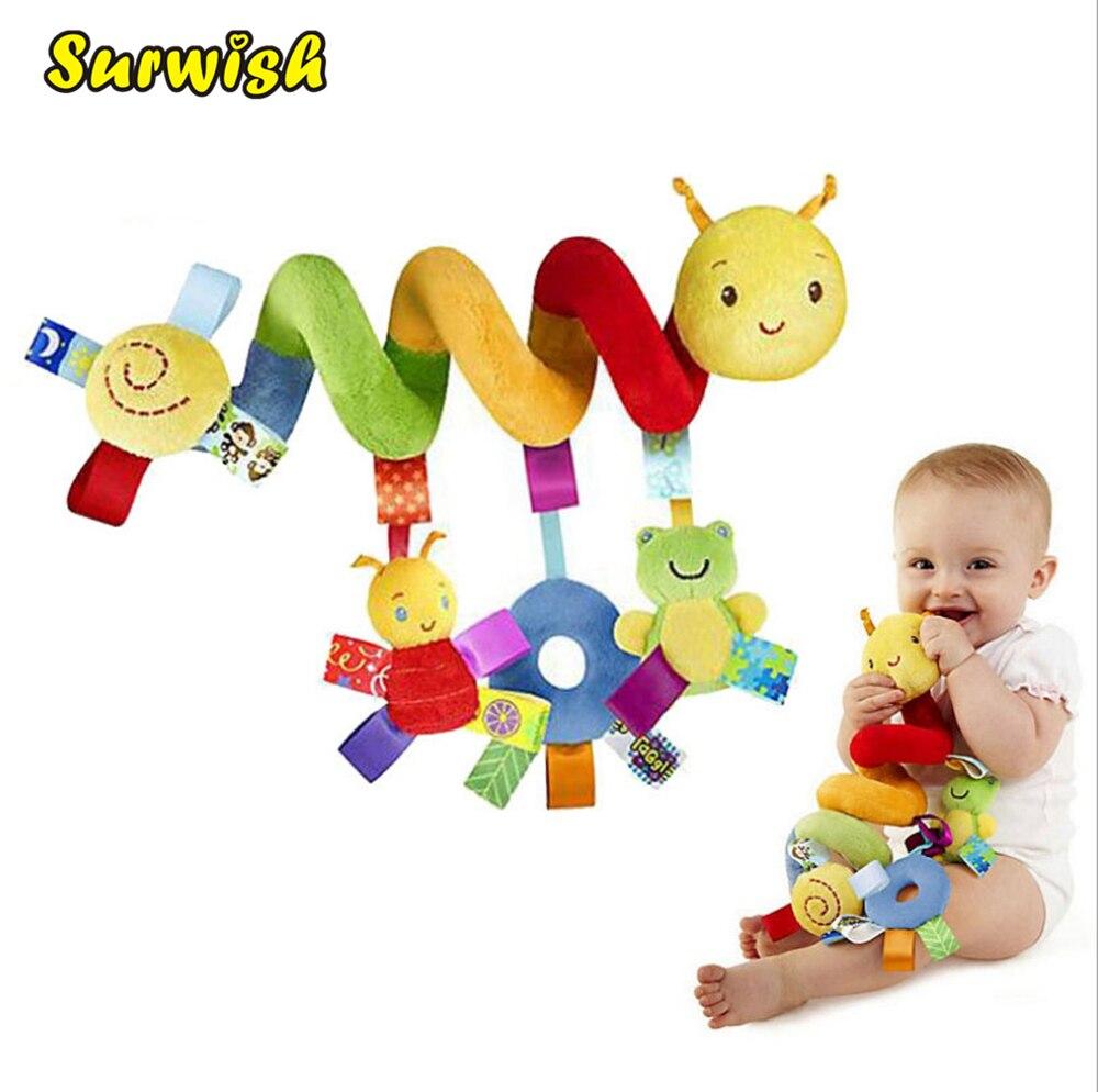 Csecsemő Babyplay aktivitás Spirálágy és babakocsi játékszer BB készülékkel lógó kiságy Rattle Baby Kids játékok Juguetes
