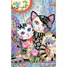 Cartoon Cat diy diamond painting Cute cats full round Couple daimond embroidery