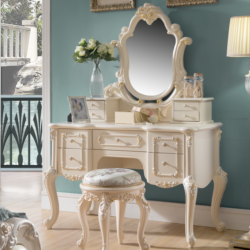 Home bedroom furniture dresser table with mirror d01 in for Ali hogar muebles