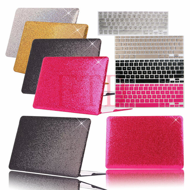 save off 6a211 815a9 US $17.99  2in1 Luxury Sparkle Bling Shiny Hard Laptop Case Cover+Keyboard  Cover For Macbook Air 11