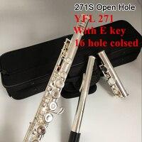 Япония профессиональная флейта 271 271 S 16 открытое отверстие C мелодия Серебряная пластина поперечная флейта музыкальный инструмент с E ключ б