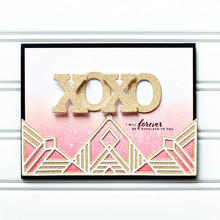 Eastshape Triangle Border Dies Metal Cutting New 2019 for Card Making Album Scrapbooking Embossing Stencil Craft Frame