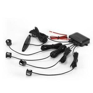 Image 3 - YASOKRO רכב חניה חיישן אוטומטי Parktronic LED תצוגה הפוך גיבוי רכב חניה רדאר צג גלאי מערכת עם 4 חיישנים
