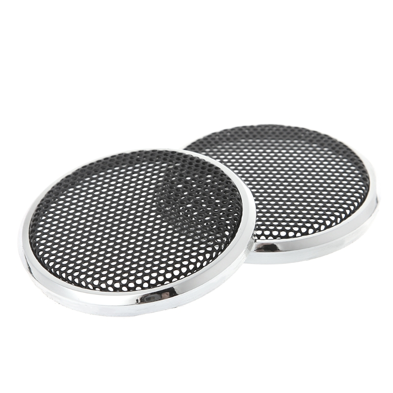 2 Pcs New 50mm Speaker Steel Mesh Round Grill Protective Cover Decorative Circle