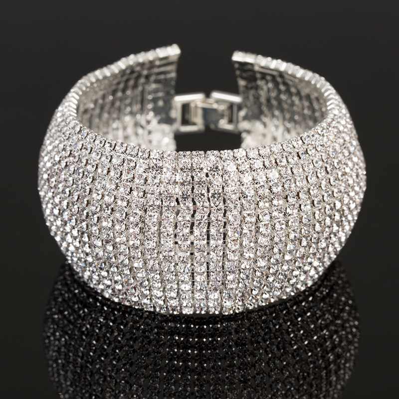 Full Rhinestone Jewelry for Women Classic Bracelet