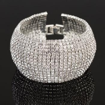 Full Rhinestone Jewelry for Women Classic Bracelet