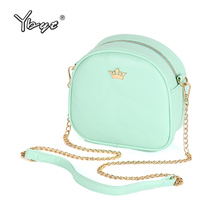YBYT brand 2018 new mini fashion Imperial crown circular package high quality lady shopping handbag women shoulder messenger bag