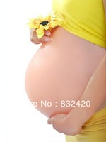 Waterproof Skin Color Surrogacy Realistic Belly Form Fake Bump Prosthetic Belly Bump for Art Performance Pregnant Woman
