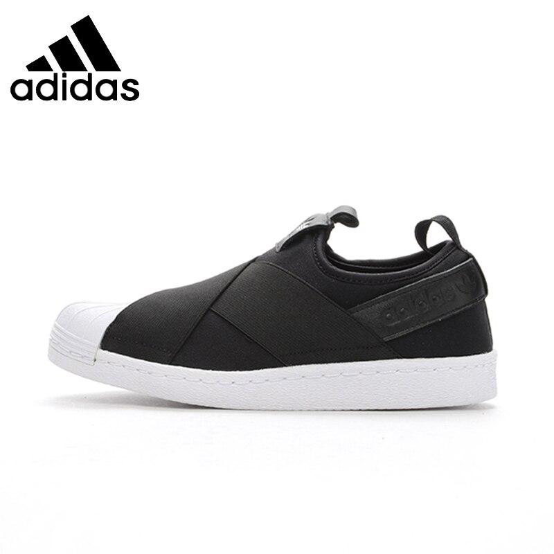 ADIDAS Superstar SlipOn оригинальные мужские и женские Скейтбординг обувь воздухопроницаемая комфортная обувь кроссовки для Мужская и женская обувь