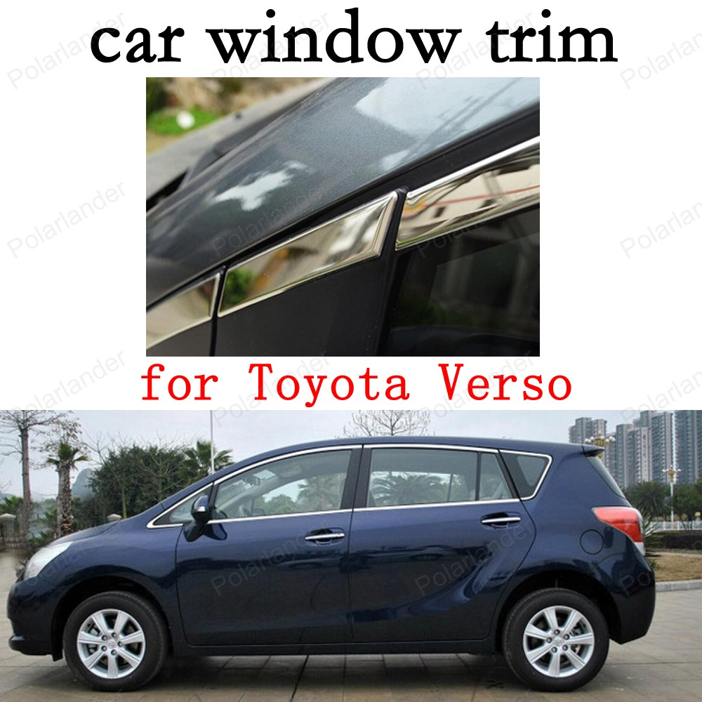 car stying Car Exterior Accessories Window Trim for Toyota Verso Stainless Steel Decoration Strips car pendant handicraft dreamcatcher feather hanging car rearview mirror ornament auto decoration trim accessories for gifts 30cm