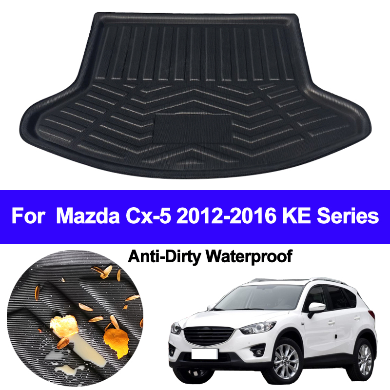Car Rear Trunk Mat Cargo Tray Boot Liner Carpet Protector Floor Pad Mats For Mazda CX-5 CX5 2012 2013 2014 2015 2016 KE Series