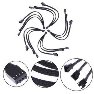 Image 4 - Mainboard CPU 4 PIN Fan Extention Kabel PWM 4 P Adapter Kabel Computer Fall Mainboard 4 PIN Power Kabel & anschlüsse