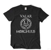 High Quality Game Of Thrones VALAR MORGHULIS T Shirt Men 100 Cotton Loose T Shirt Cosplay