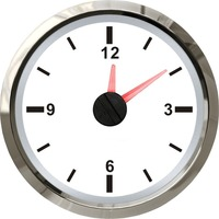 1pc 52mm Hour Meters Hourmeters Clock Table Time Meters 12V/24V for Boat Automobile Motor Homes Universal White Color