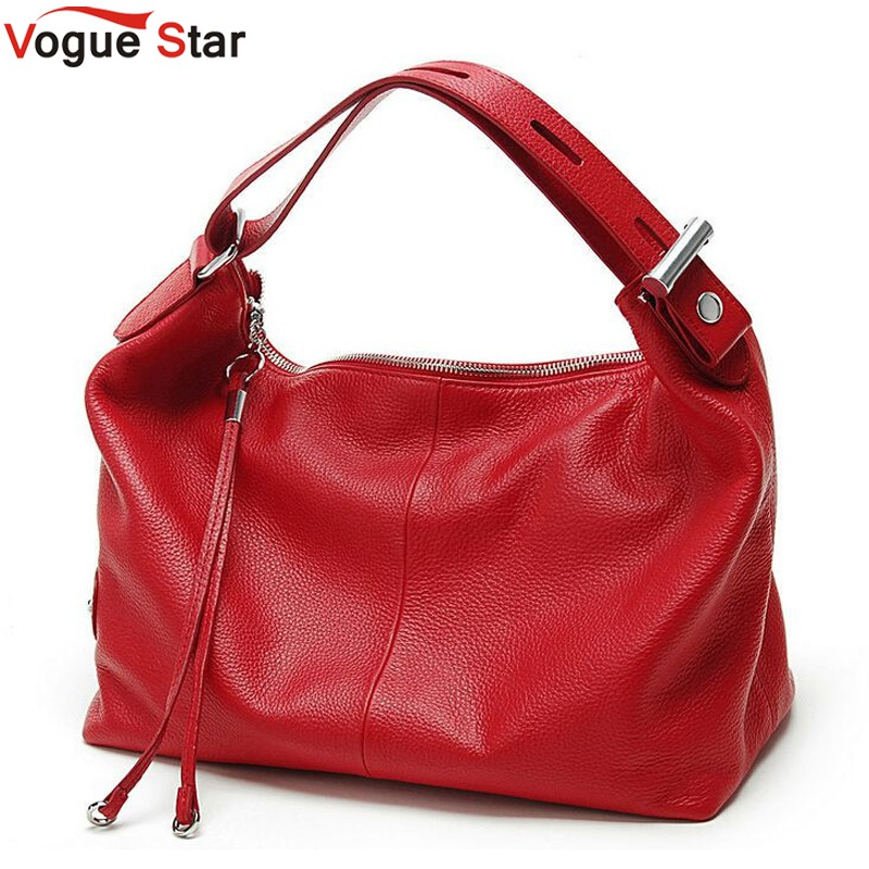 Vogue Star Fashion 100 Real Genuine Leather OL Style Women Handbag Tote Bag Ladies Shoulder Bags