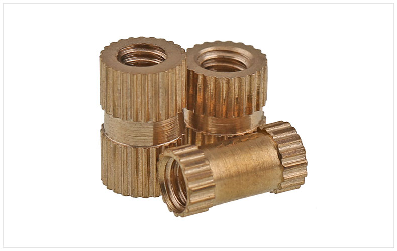 Injection molding machine nut brass copper insert M4 M5 M6 M8 nut embedded copper knurled nut Embedded parts