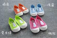 1 пара осень конфеты цвет дети брезент обувь, Бренд дети кроссовки, Супер мальчик / девочка дети один обувь