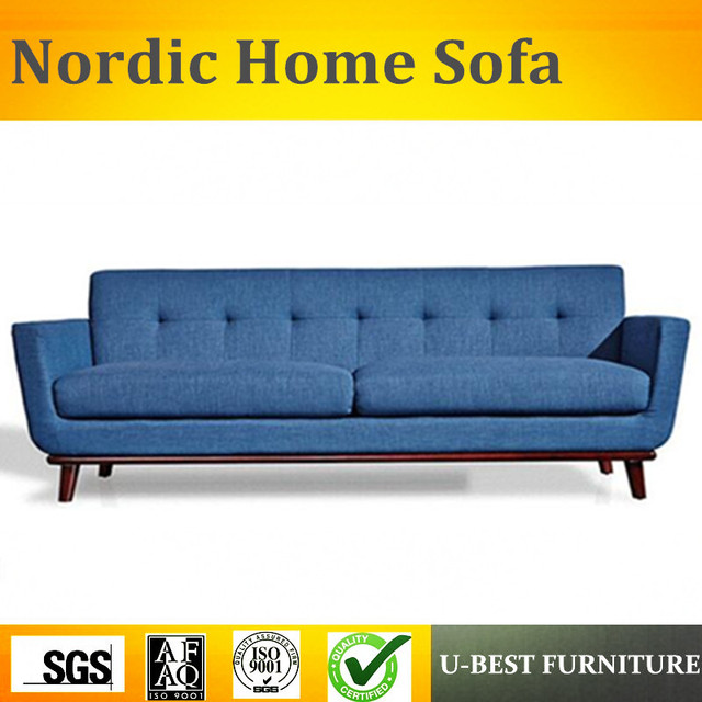 U BEST Home Furniture Fabric Design 3 Seaters Sofa Recliner Couch Modern  European Style